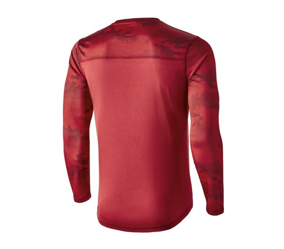 Camiseta camuflaje MIMET Winter color rojo, de manga larga