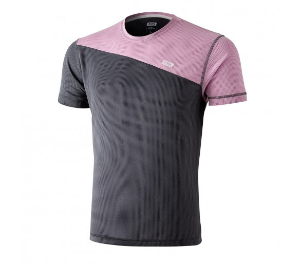 Camiseta ATRIA Shark Grey color gris y rosa