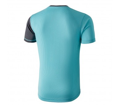Camiseta atria capri blue. Color azul y gris