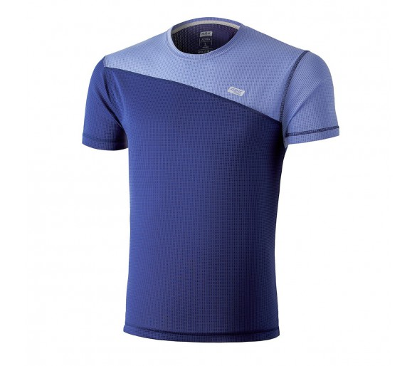 Camiseta transpirable Atria deep blue. color azul claro con azul índigo
