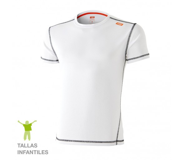 Camiseta técnica niño Lunar KIDS color blanco