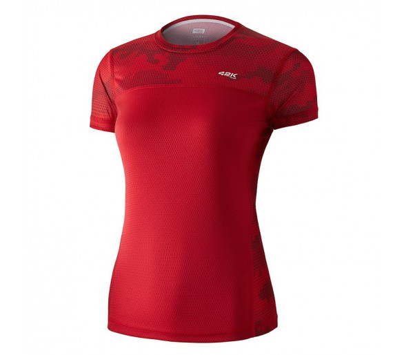 Camiseta 42K MIMET MUJER Ruby Red M/Corta-Hexagon