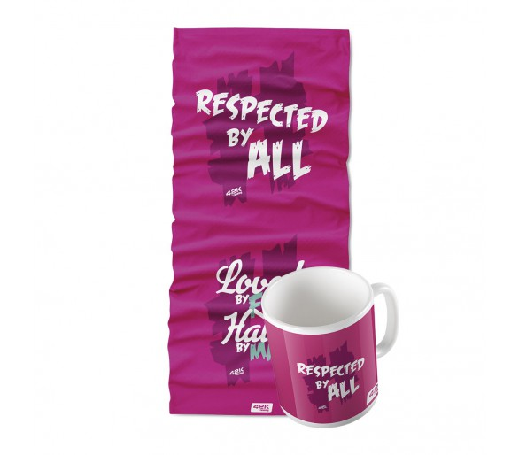 "Taza+bandana ""Respected by all"""