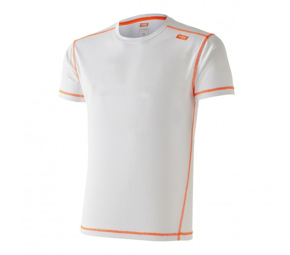 Camiseta 42K Lunar White/Orange Manga Corta