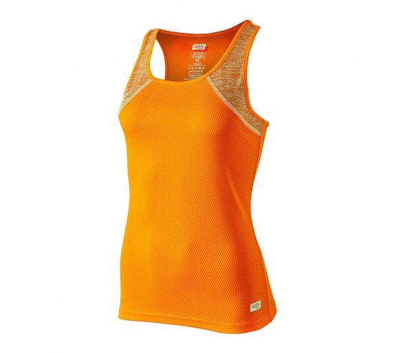 Camiseta running de tirantes mujer Xion2 summer F. Orange