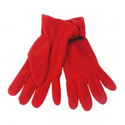 guantes polares color rojo