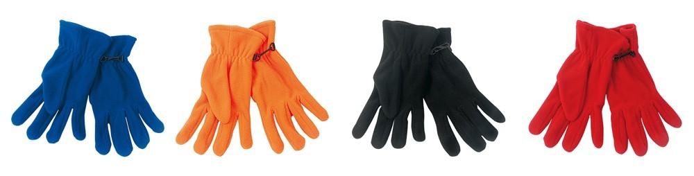 guantes polares en diferentes colores