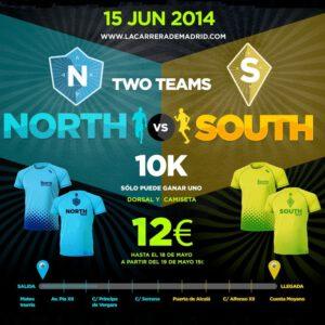 camiseta equipos carrera norte sur madrid