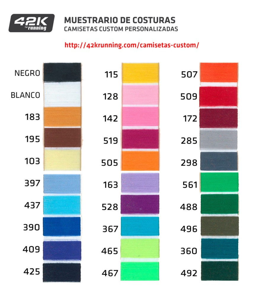 Elige tu color para tu camiseta de running customizada