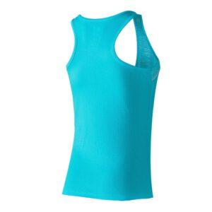 Camiseta de tirantes tejido técnico jaspe y liso, color azul, Xion2 Summer blue river. Espalda