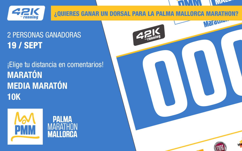 Cartel concurso dorsal Palma Marathon Mallorca 2017