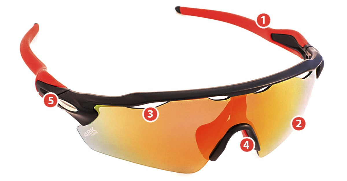 gafas morfeo 42k Running - UV 400 color rojo y negro
