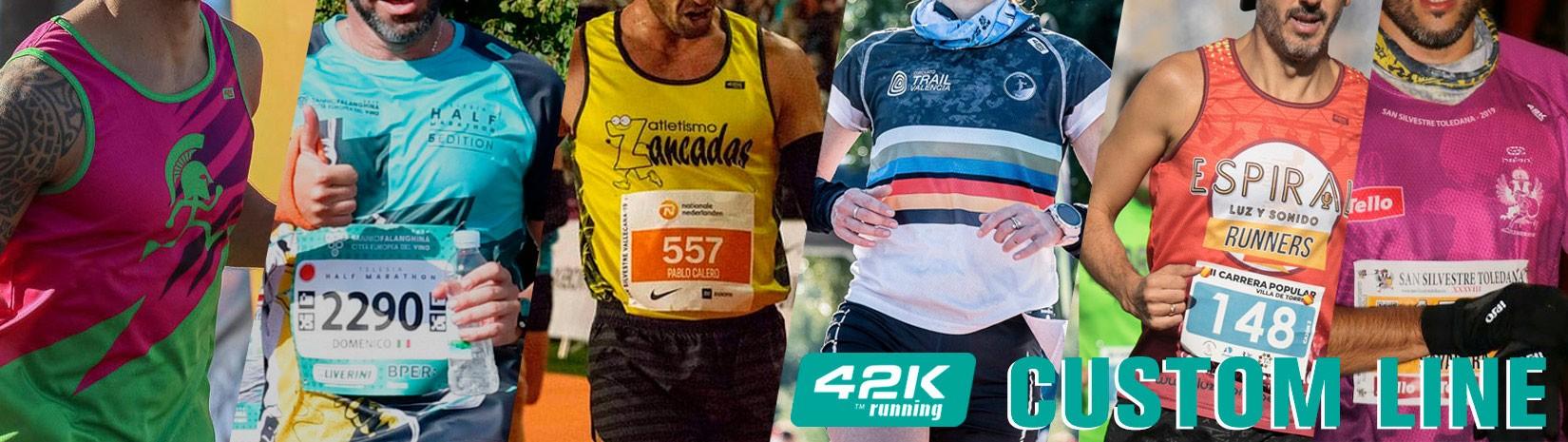 Camisetas técnicas personalizadas Custom impresas hasta los bordes 42k running